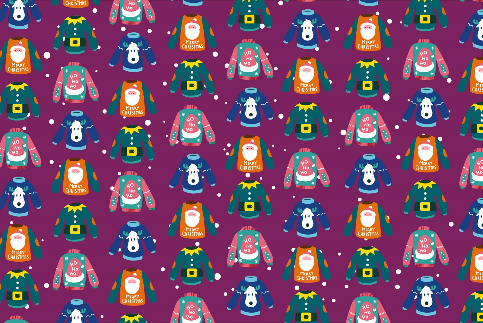 Background graphic of Christmas jumpers